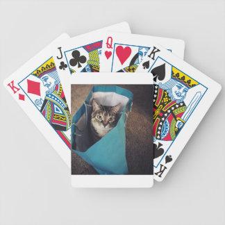 Die Katze ist bereit, aus die Tasche Bicycle Spielkarten