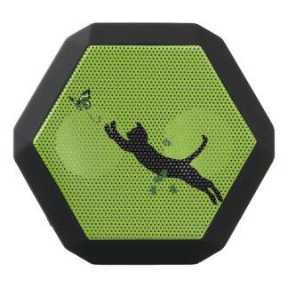 Die Katze u. die Schmetterlings-Version 2 Schwarze Bluetooth Lautsprecher