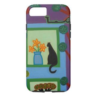 Die Katze von schiefwinkligem Halbmond 2008 iPhone 8/7 Hülle