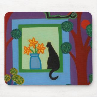 Die Katze von schiefwinkligem Halbmond 2008 Mousepad