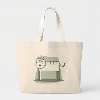 Die Katze zum Quadrat Einkaufstasche