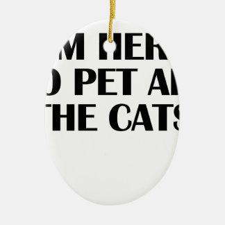 die Katzen Keramik Ornament