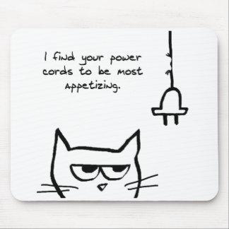 Die Katzen-Liebe-Power-Schnüre - lustige Katze Mousepad