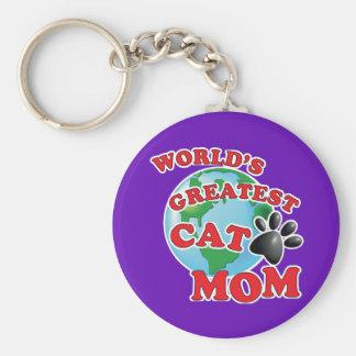 Die Katzen-Mamma-Tatzen-Druck der Welt bestster Schlüsselanhänger