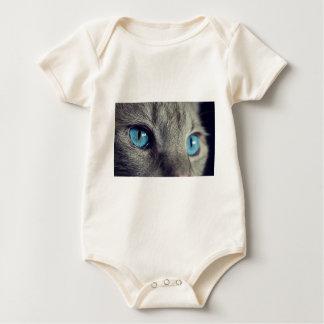 Die katzenaugen-Augen-Haustier-Ansicht-blaues Auge Baby Strampler