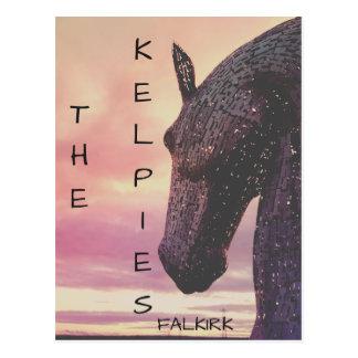 Die Kelpies Postkarte, Schneckenpark, Falkirk, Postkarte