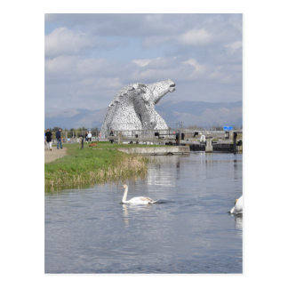 die Kelpies, Schneckenpark, Falkirk Postkarte