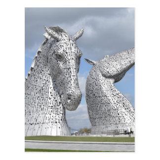 die Kelpies, Schneckenpark, Falkirk, Schottland Postkarte