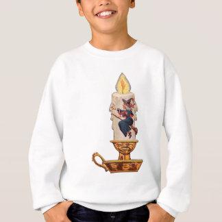 Die Kerze der Hexe (Vintage Halloween-Karte) Sweatshirt