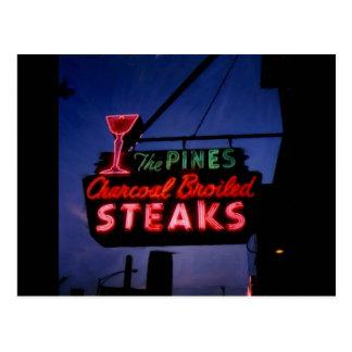 Die Kiefern, Forest Park IL. Vintage Neonpostkarte Postkarte