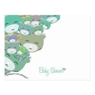 Die kinder blauen Kätzchen, baby unterhält shower Postkarte