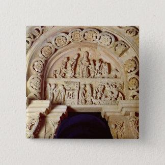 Die Kindheit von Christus, Tympanum des rechten Quadratischer Button 5,1 Cm