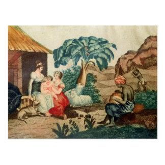 Die Kindheit von Paul und von Virginie Postkarte