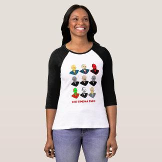Die Kino-Snob-Gesichter - die 3/4 Hülse der Frauen T-Shirt