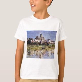 Die Kirche bei Vetheuil durch Claude Monet T-Shirt