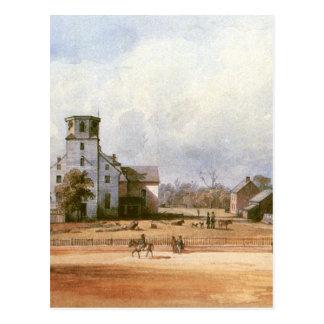 Die Kirche der neuen Harmonie durch Karl Bodmer Postkarte