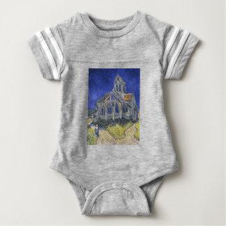 Die Kirche in Auvers durch Vincent van Gogh Baby Strampler