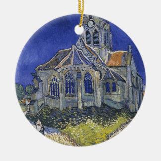 Die Kirche in Auvers durch Vincent van Gogh Keramik Ornament