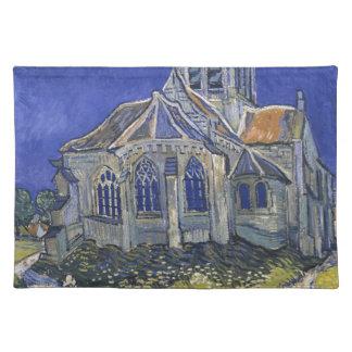 Die Kirche in Auvers durch Vincent van Gogh Stofftischset