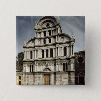 Die Kirche von San Zaccaria, 1480-1500 (Foto) Quadratischer Button 5,1 Cm