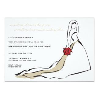 Die klassische Braut 12,7 X 17,8 Cm Einladungskarte