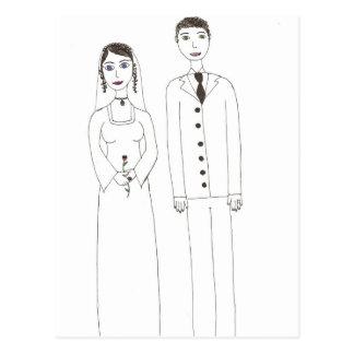Die klassische Hochzeit Postkarte