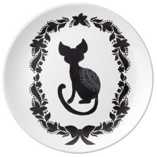 Die klassische Katze Teller Aus Porzellan