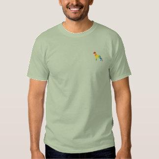 Die kleine gestickte Dogge Besticktes T-Shirt