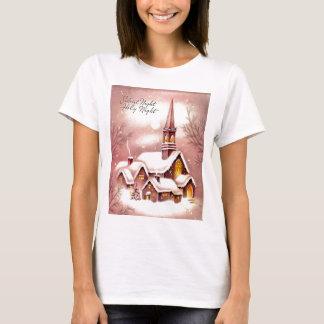Die kleine Kirche im Holz T-Shirt