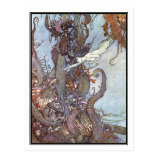 Die kleine Meerjungfrau durch Edmund Dulac Postkarte