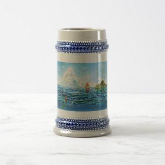 Die kleine Meerjungfrau-Meerblickmalerei Bierglas