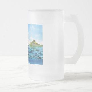 Die kleine Meerjungfrau-Meerblickmalerei Mattglas Bierglas