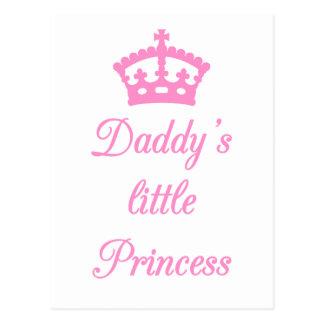 Die kleine Prinzessin des Vatis, Textentwurf mit Postkarte