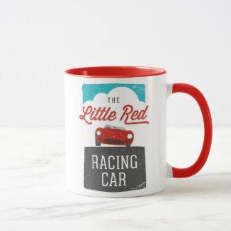 Die kleine rote laufendes Auto-doppelte Logo-Tasse Tasse