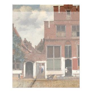 Die kleine Straße durch Johannes Vermeer 11,4 X 14,2 Cm Flyer