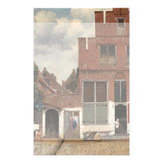 Die kleine Straße durch Johannes Vermeer 14 X 21,6 Cm Flyer