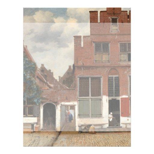 Die kleine Straße durch Johannes Vermeer Bedruckte Flyer