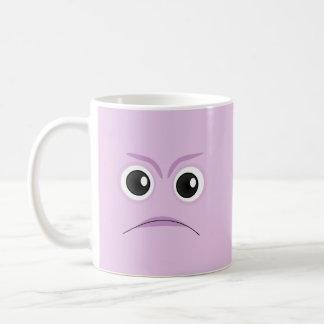 Die kleinen blühenden Pflanzen - trauriges Gesicht Kaffeetasse