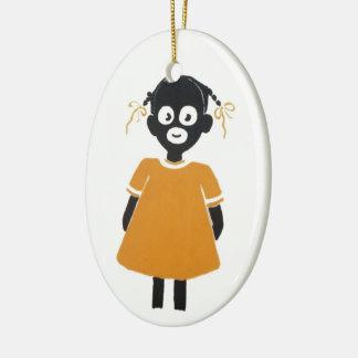 Die kleinen farbigen Mädchen - Verzierung Keramik Ornament