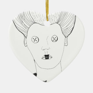 Die Knopf-Königin Keramik Ornament