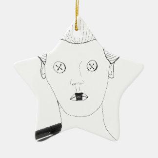 Die Knopf-Königin Keramik Stern-Ornament