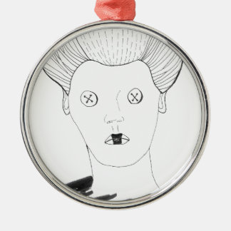 Die Knopf-Königin Silbernes Ornament