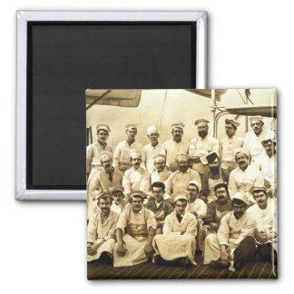 Die Köche des Schiffs an Bord R.M.S. Teutonic Quadratischer Magnet