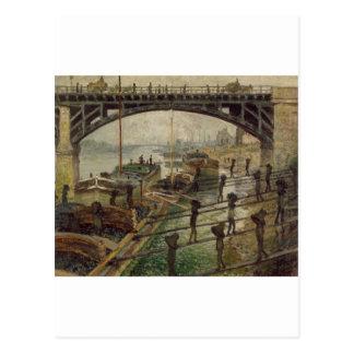 Die Kohle-Hafenarbeiter (1875) Postkarte