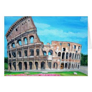 Die Kolosseum-Malerei-Gruß-Karte Karte