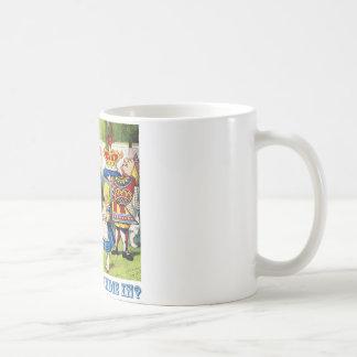 """DIE KÖNIGIN DER HERZEN FRAGT, """"WHO GELASSENES KAFFEETASSE"""
