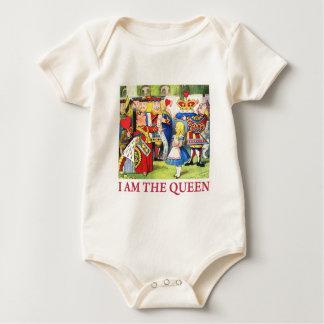 """Die Königin der Herzen sagt, """"ich bin die Königin! Baby Strampler"""