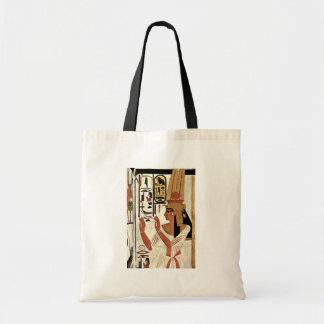 Die Königin Nefertari in der Gebets-Position durch Einkaufstasche