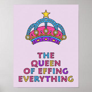 """Die Königin von Effing alles LOL Plakat 11 x 14"""""""