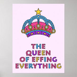 """Die Königin von Effing alles Plakat 18"""" x 24"""""""